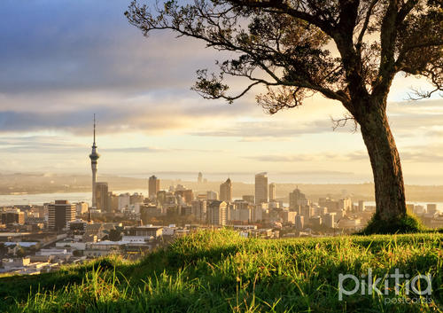 Auckland from Mount Eden, New Zealand