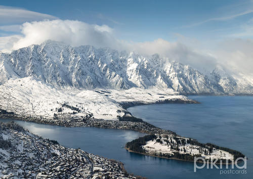 Queenstown and the Remarkables during winter, New Zealand